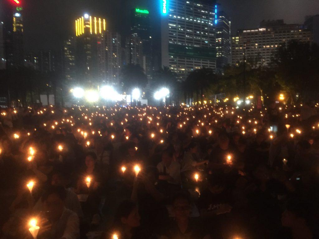 candlelit vigil 2019 june 4 - victoria park