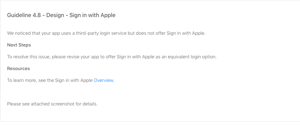 mandatory Apple Sign-in implementation