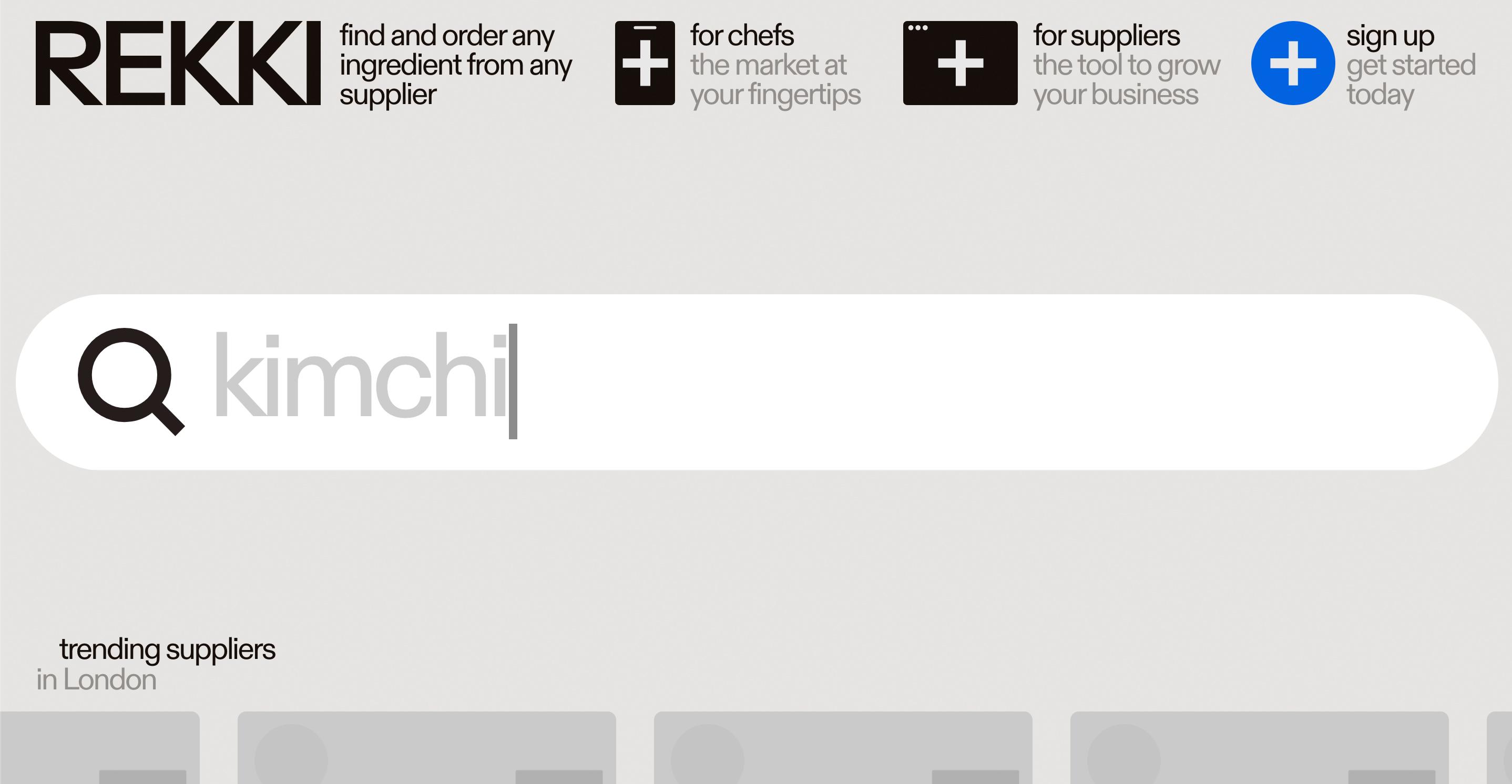 rekki - Restaurants + Suppliers Platform