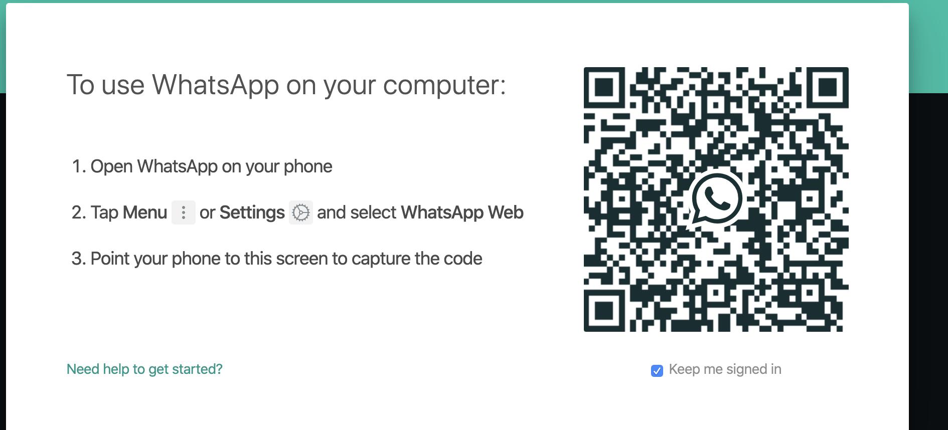 Scan QR Code (Whatsapp)
